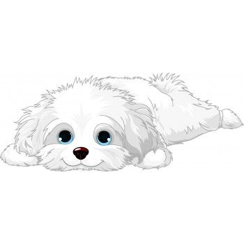 Cute White Fluffy Pup Dog Drawing Dog Paintings Dog Art