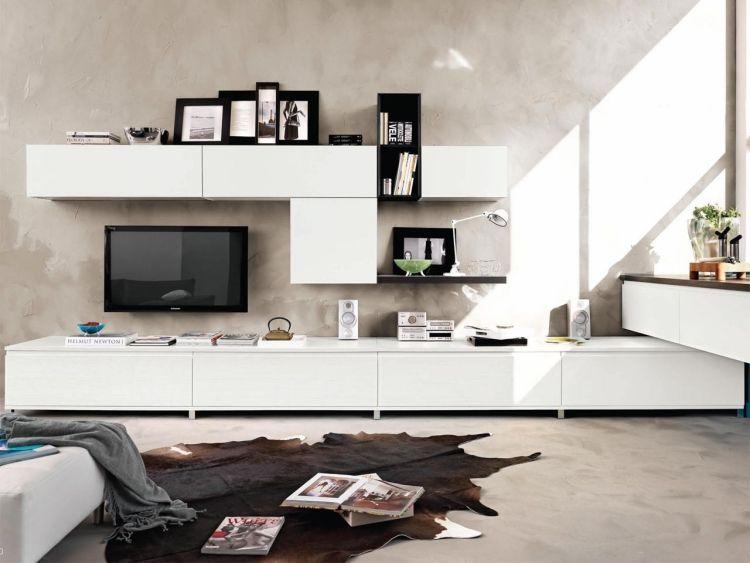 Meuble de salon design en blanc – 20 idées élégantes