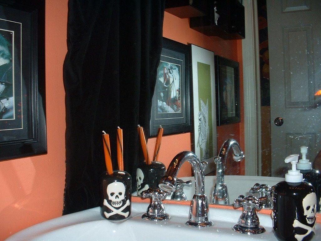 Nightmare Before Christmas Bathroom Merchandise Disney With Black