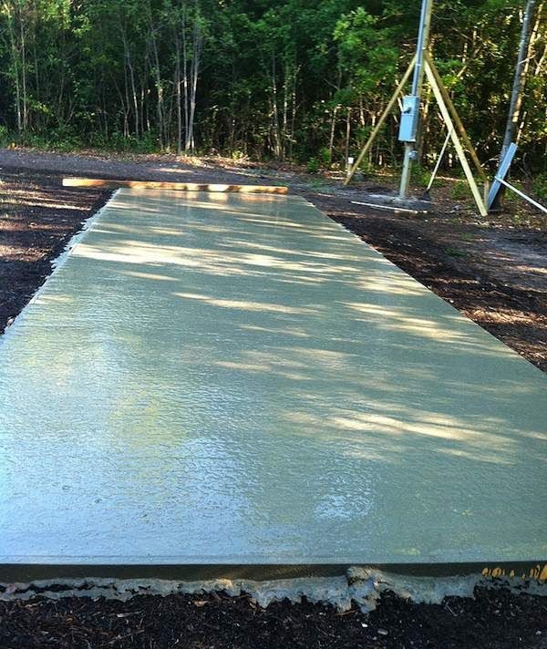 Concrete Slab For Tiny House On Wheels To
