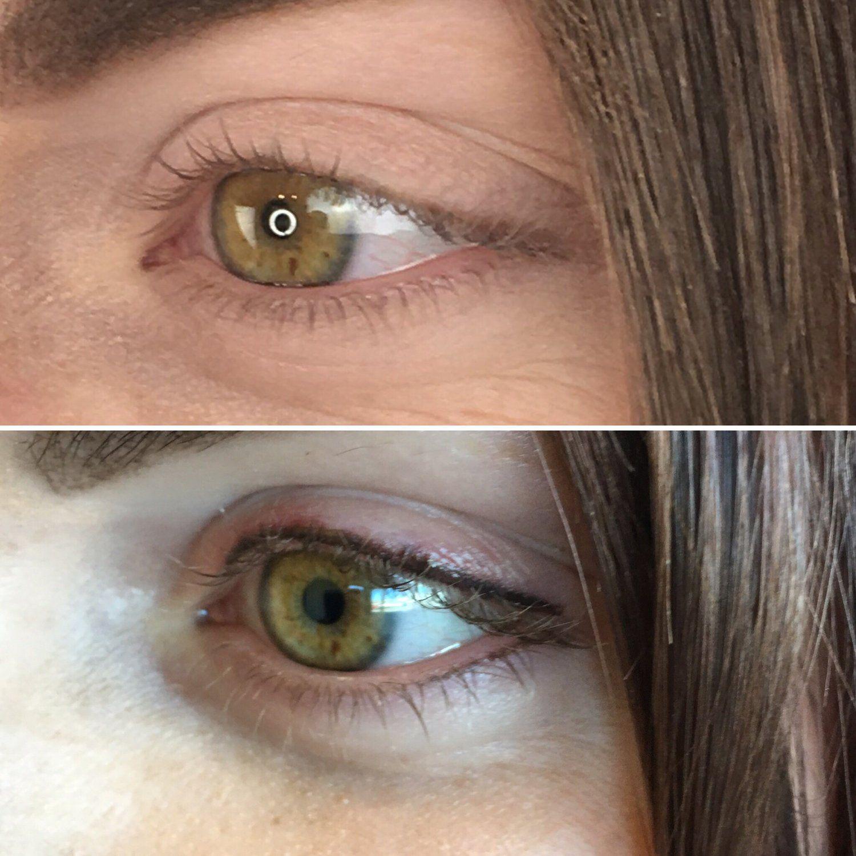 Permanent Eyeliner Before & After eyeliner tattoo