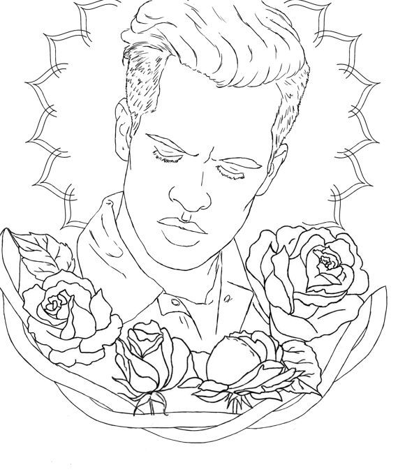 panic at the disco coloring pages Brendon Urie Colouring Page by Somethingoncecool on Etsy | Panic  panic at the disco coloring pages