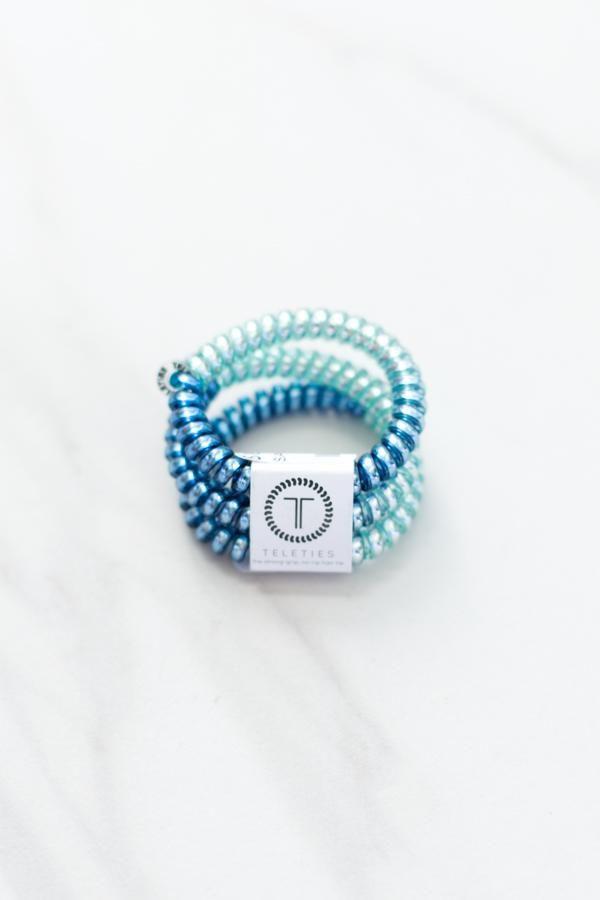 Teleties Small Hair Ties Blue Sapphire Hair Ties Box