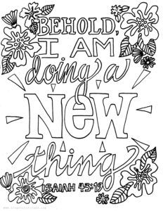 All Things New Coloring Page From Victory Road Quote Coloring