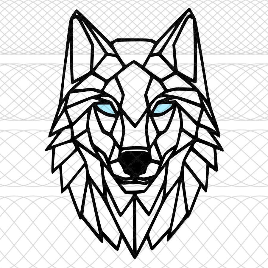 19++ Awesome Geometric wolf tattoo drawing image ideas