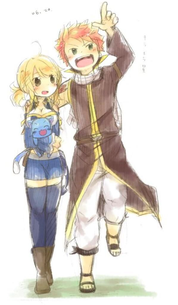 Fairy Tail | Happy, Lucy and Natsu | Fairy Tail ...  Fairy Tail | Ha...