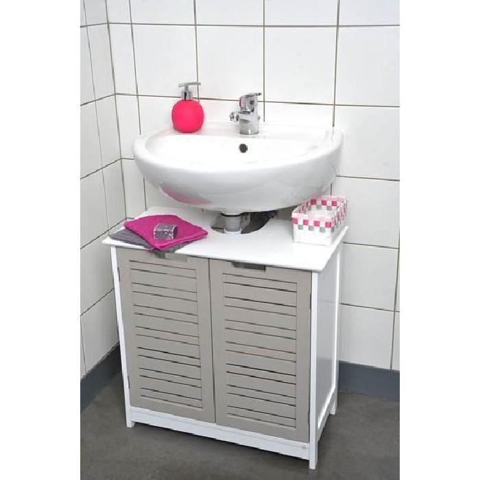Meuble sous lavabo 2 portes MIAMI TAUPE Toilet