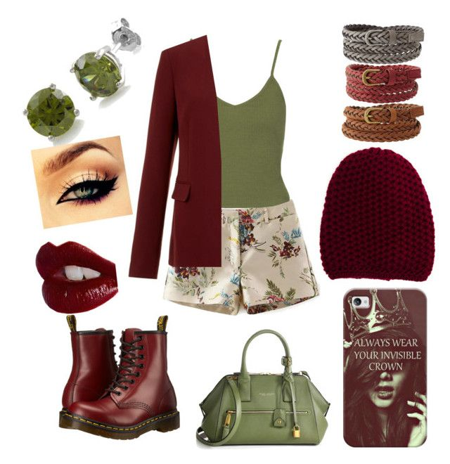 """""""✳️✳️✳️"""" by mariannaok ❤ liked on Polyvore featuring Topshop, Theory, Dr. Martens, Marc Jacobs, Casetify, Inverni, Charlotte Russe, BERRICLE and Charlotte Tilbury"""