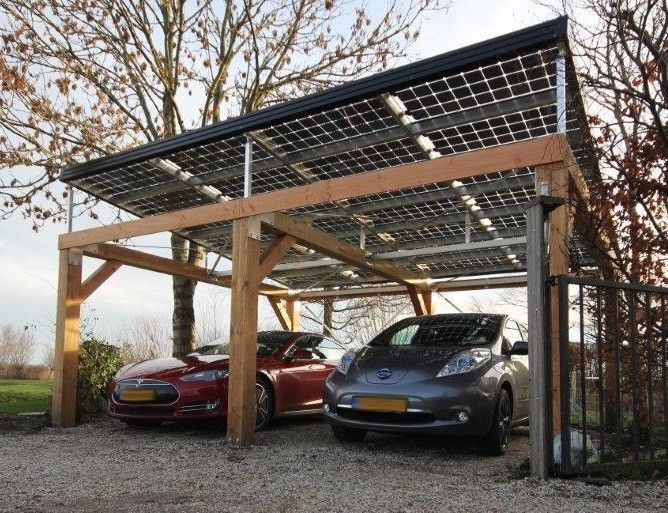 Image result for carport with solar panel roof holland