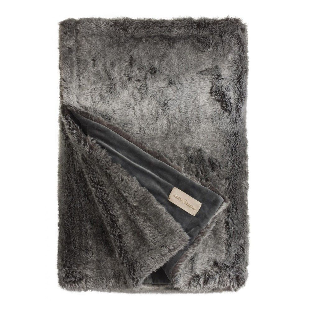 Winter Home Timberwolf Faux Fur Throw In 2019 Apartment Faux
