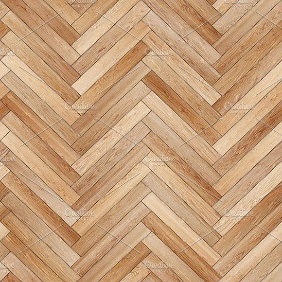 Seamless Wood Parquet Texture Herringbone Light Brown By