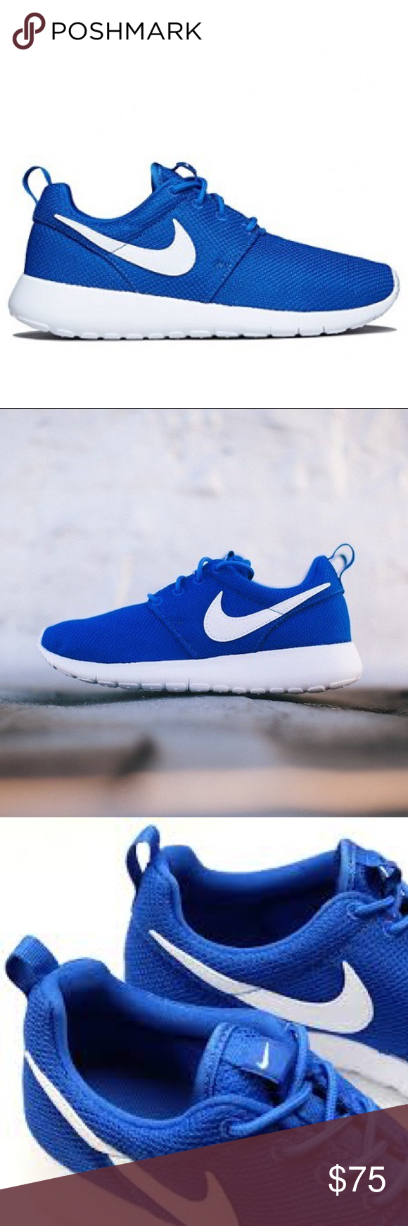 3e7972c101ad8 NWT 💙 NIKE ROSHE ONE WOMENS SHOES BLUE WHITE Brand new without box. Shoes  are