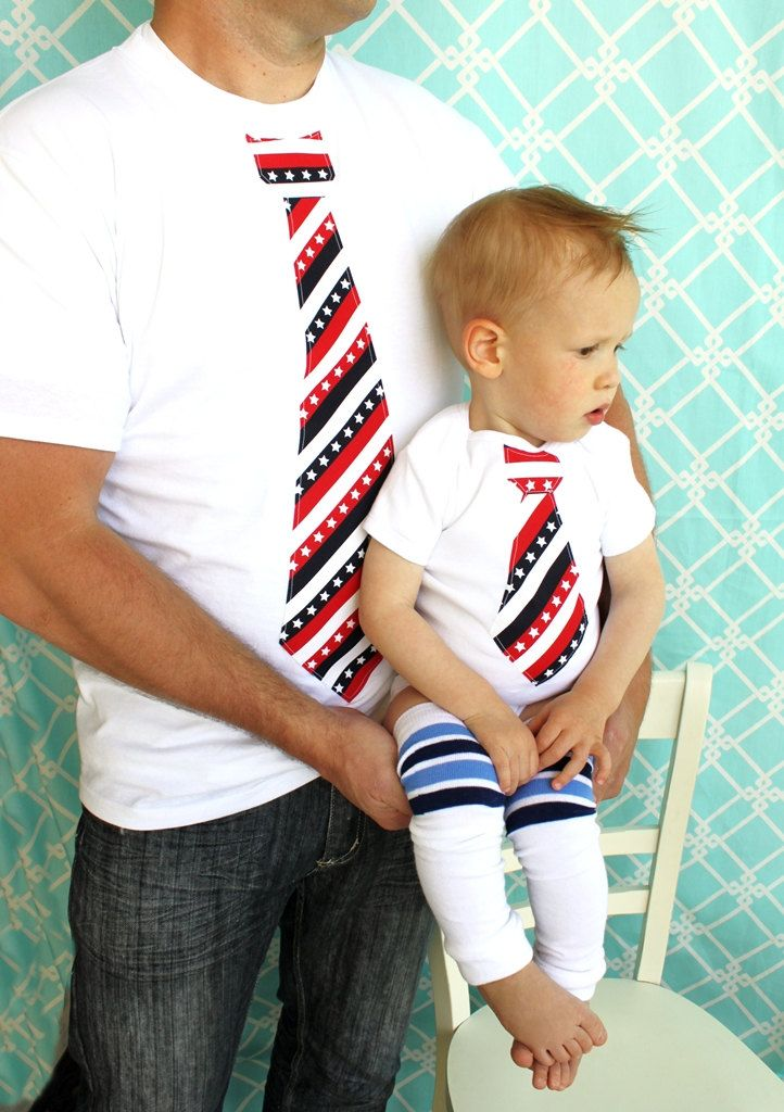 c0fa82fa2 Cassie Cercy New Dad   Baby Boy Set of 2 Tie Shirts for Memorial Day ...