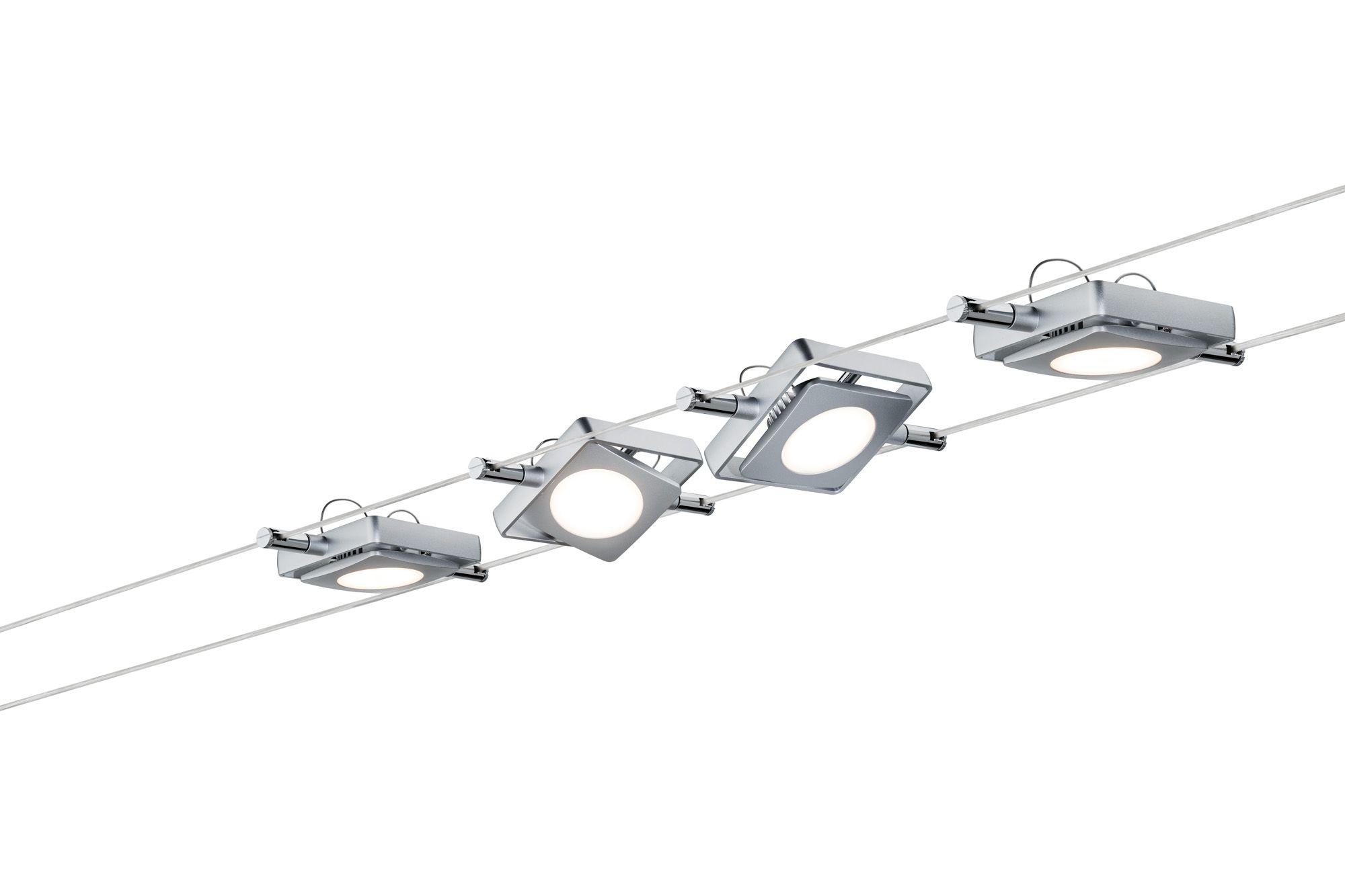 PAULMANN 94107 : Spots LED câbles tendus MAcLED 4*4w
