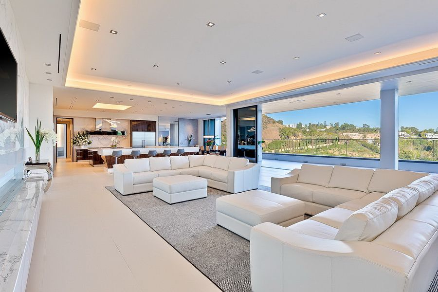 100 000 000 Modern Contemporary Bel Air Mega Mansion Modern Mansion Interior Mansion Living Mansion Living Room