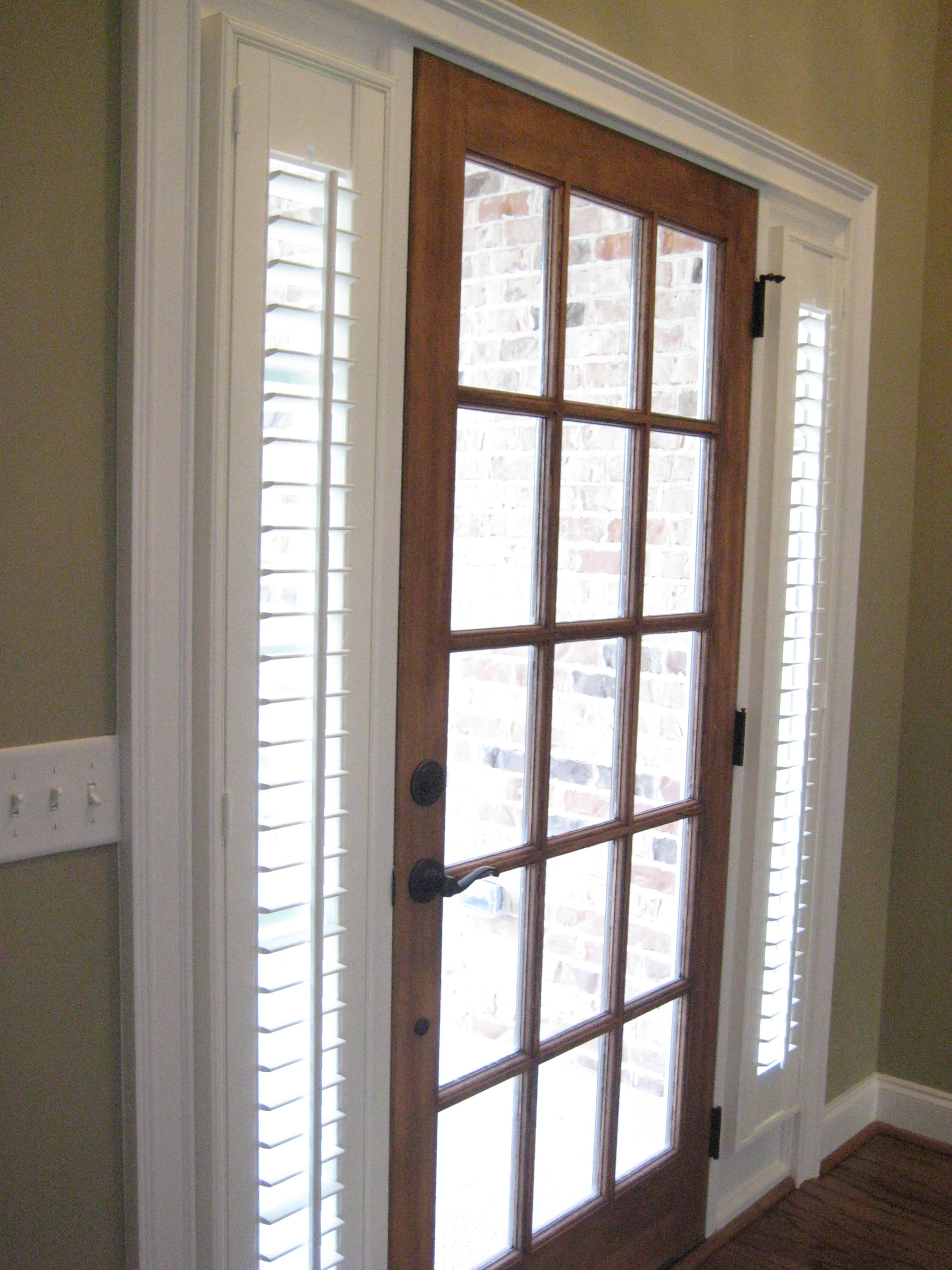 Barn window decor  sidelight blinds idea plantation shutters can be custom made for