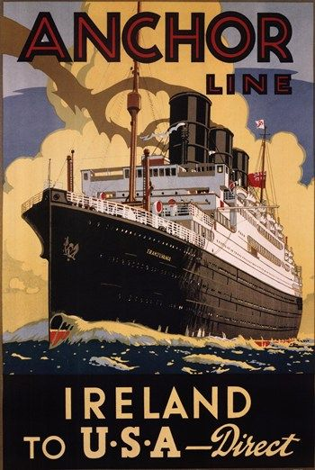 Ireland And USA Irish Pinterest Tourism Travel Posters And - Cruise to ireland from us