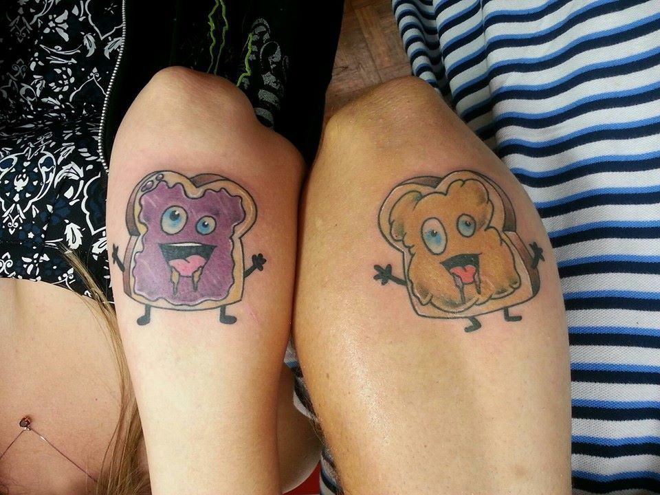 8 Matching Tattoo Adorable Couple Tattoos Peanut Butter And Jelly