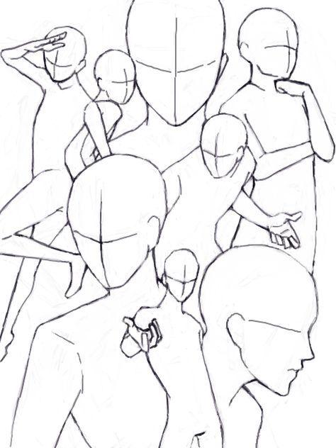 Drawing Poses Group 19 Ideas Drawing Base Drawings Drawing Reference Poses