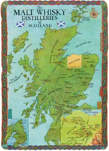 Scotlands Distilleries Map Newest Whisky Of İslay
