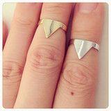 Triangle knuckle, midi ring