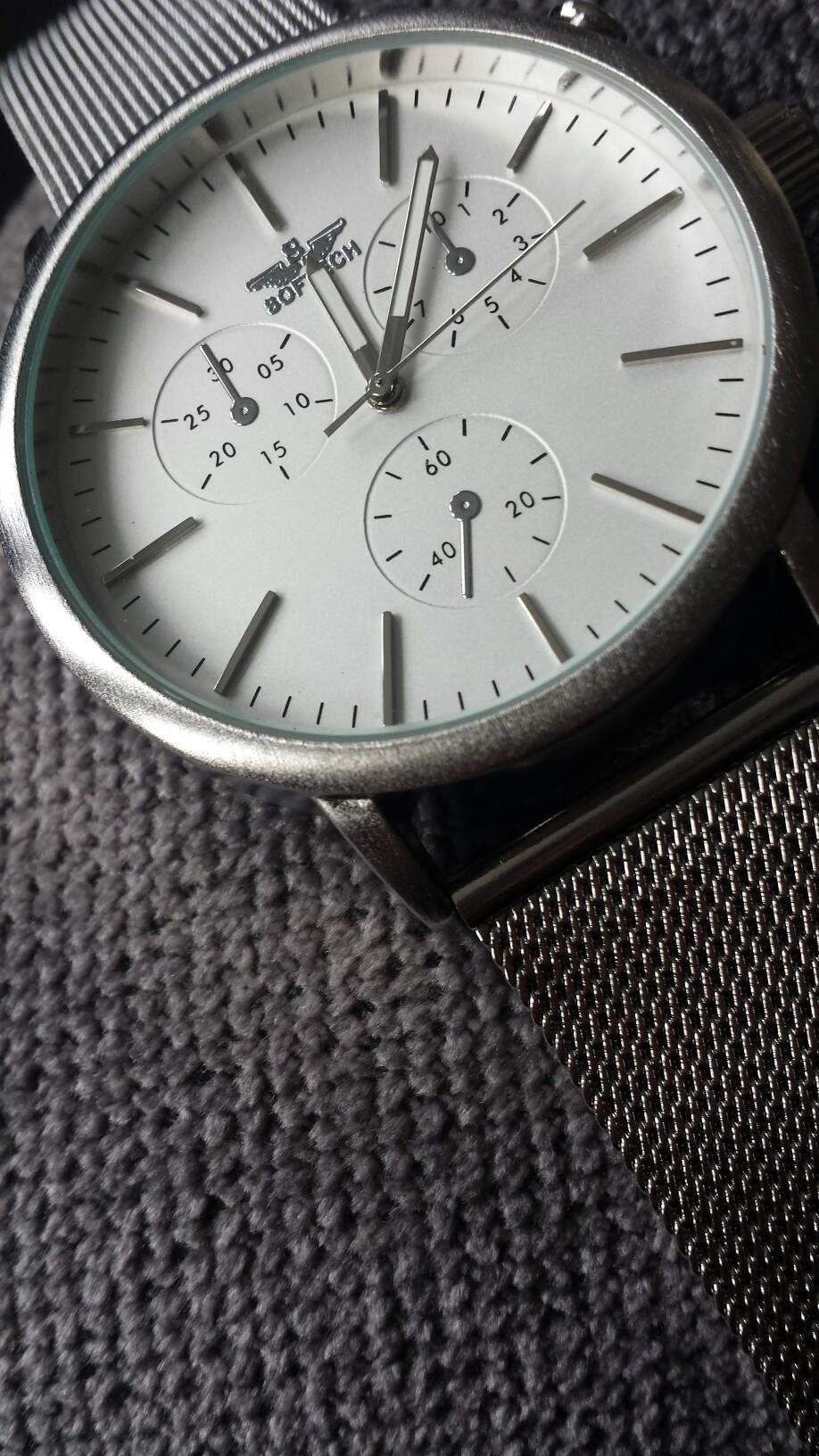 e21dbd09172 Softech London Silver Mesh Strap Wrist Watch with Silver Dial