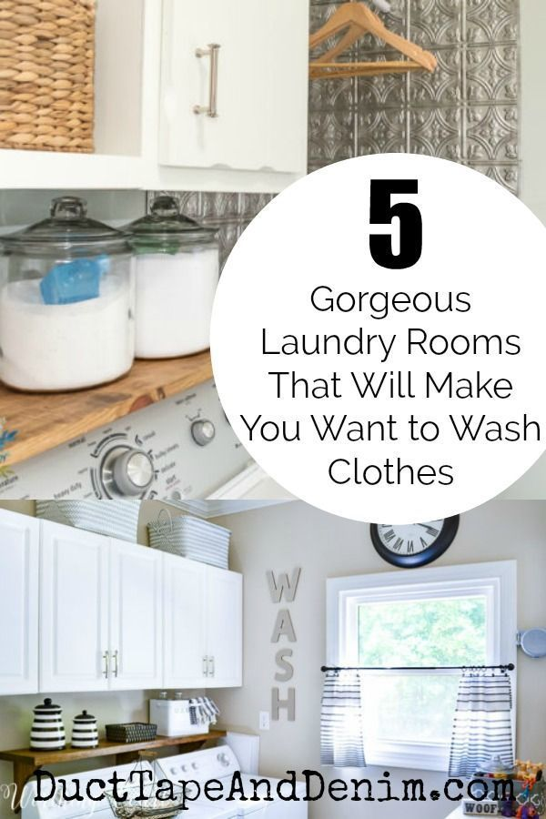 Design Your Own Laundry Room: 5 Gorgeous DIY Laundry Rooms That Will Make You Want To