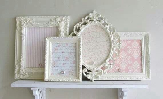 Shabby magnetic memo frames - what a great way to use all those ...