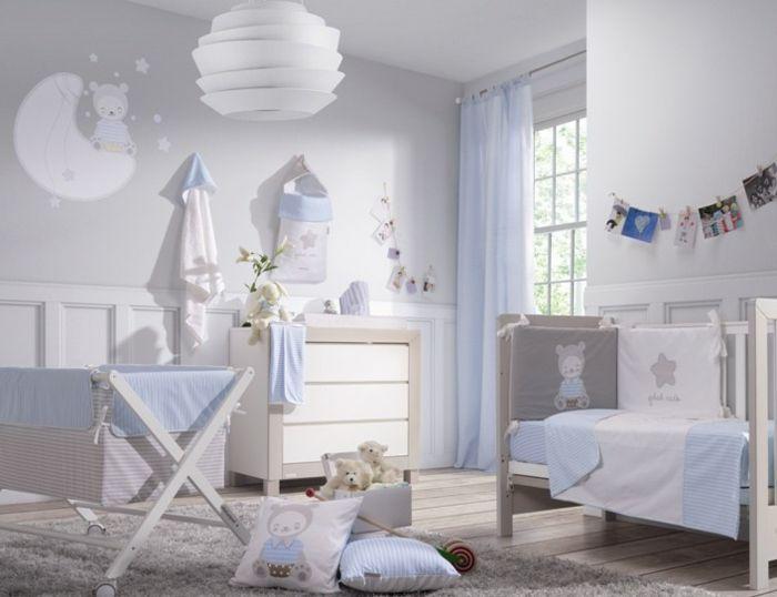 Babyzimmer junge blau grau  Babyzimmer Set hell blau und weiß | chambre d'enfant | Pinterest ...