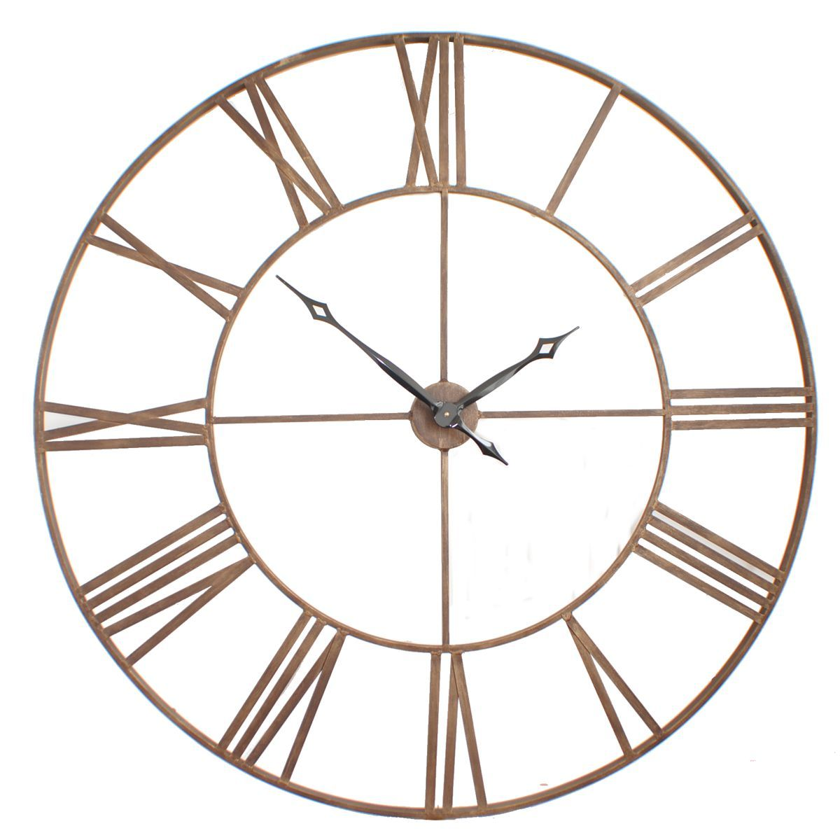 120cm diameter bronze home pinterest wall clocks roman and our ever expanding range of roman big vintage clocks this big version features a metal bronze dial with roman numberals amipublicfo Images