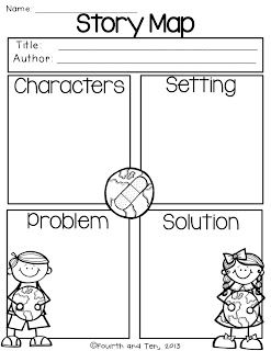 Divine image in printable story map graphic organizer