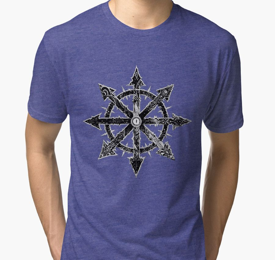 """""""Warhammer 40k Black and Silver Star of Chaos #2"""" Tri-blend T-Shirts by cool-shirts 