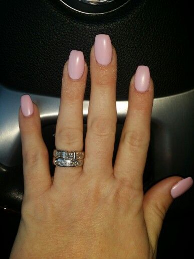 Short Coffin Nails Matte Pink | Nails And Toes | Pinterest | Coffin Nails Shorts And Makeup