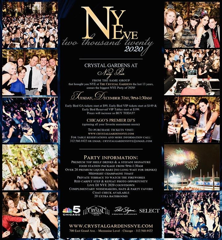 Crystal Gardens New Years Eve 2020 Tickets, Tue, Dec 31 ...