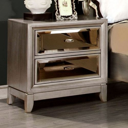 Furniture Of America Glaciara 2 Drawer Nightstand Nightstands At
