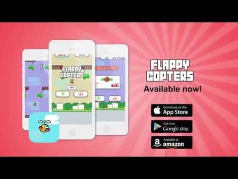 Flappy Copters - Swing The Bird Like A Helicopter And Avoid Obstacles - Promo Video