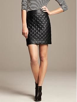 Quilted Faux-Leather Mini | Banana Republic, How would you style this? http://keep.com/quilted-faux-leather-mini-banana-republic-by-areta_chen/k/1oHTKoABC_/
