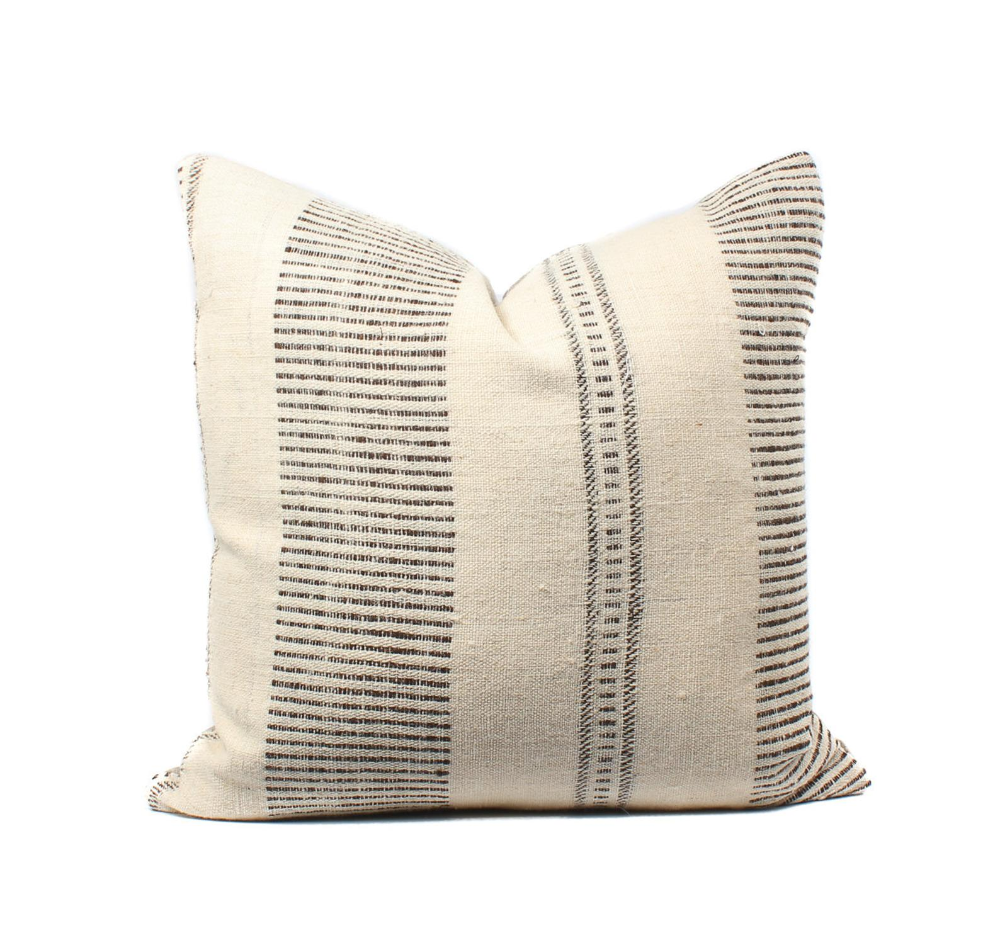 indian wool striped 22x22 pillow cover