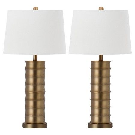 Safavieh linus brass column table lamp set of 2 target