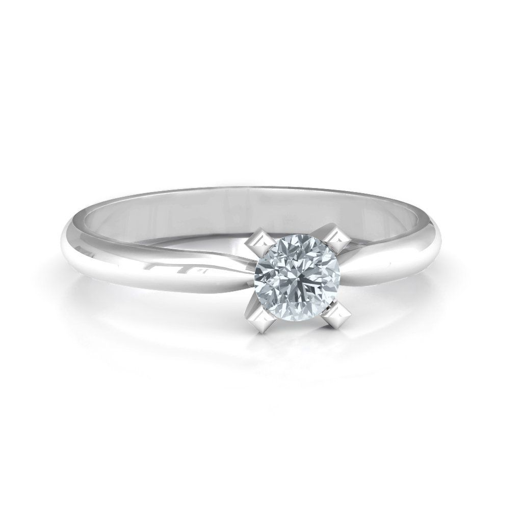 1/3 CT Center Round-Cut Ring