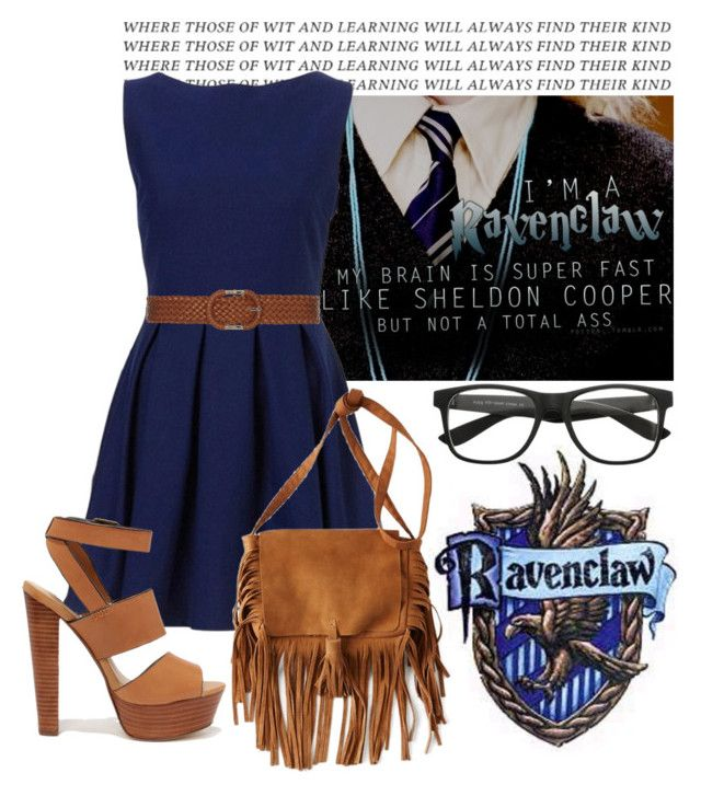 """""""Harry Potter Houses - Ravenclaw"""" by nika-love ❤ liked on Polyvore featuring Dorothy Perkins, Steve Madden and American Eagle Outfitters"""