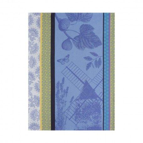 Strofinaccio Terre de provence Bleu lavande 60x80 100% cotone