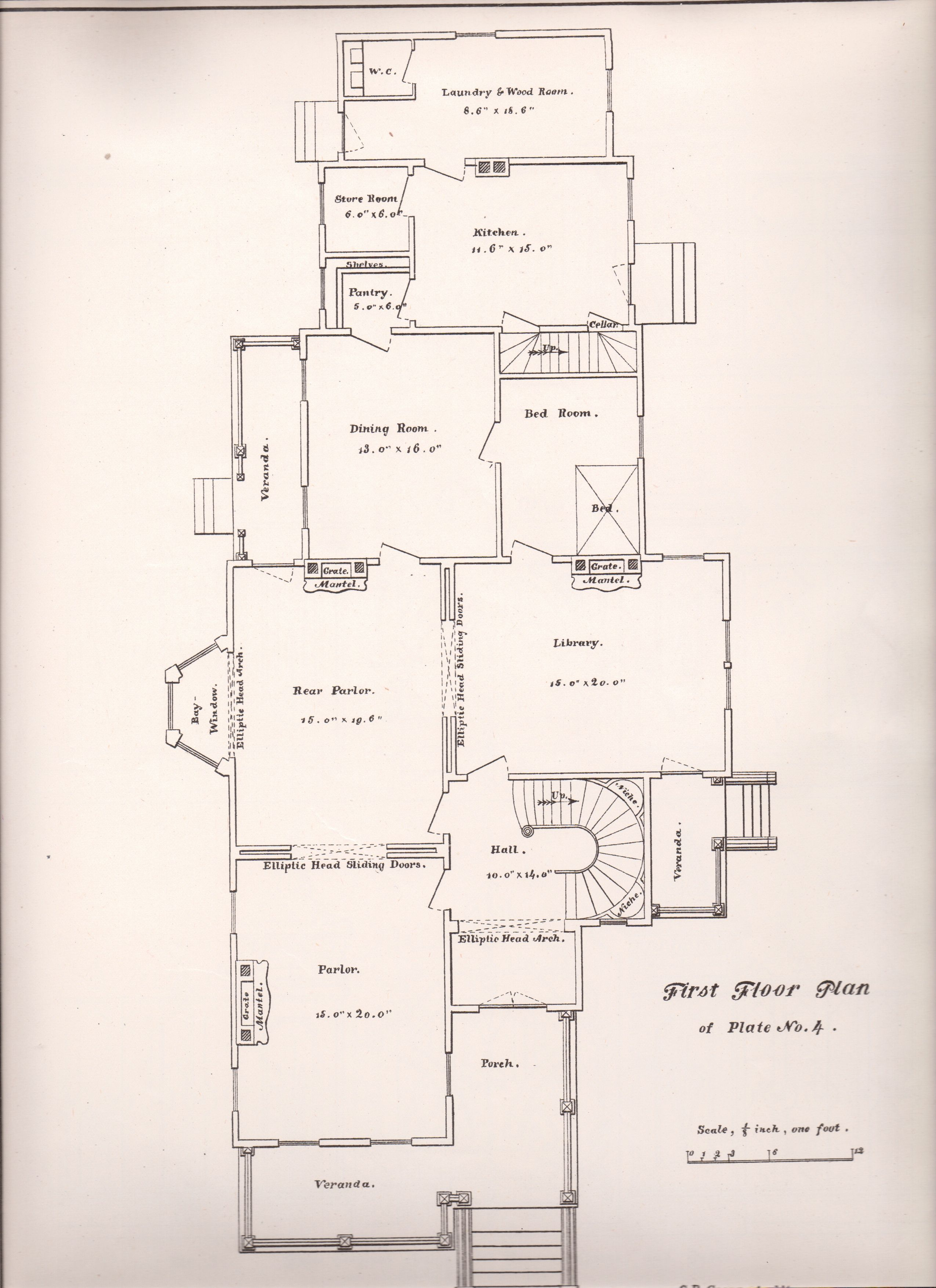 Plate No 5 First Floor Plan Of Plate No 4 G B Croff Architect From Progressive American Arch Floor Plans American Architecture Victorian Architecture