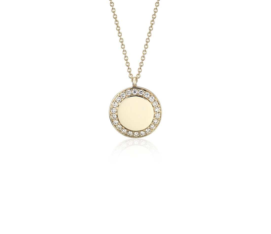 Yellow Gold Over Silver 1//6 CTTW Diamond Two Star Circle Pendant Necklace