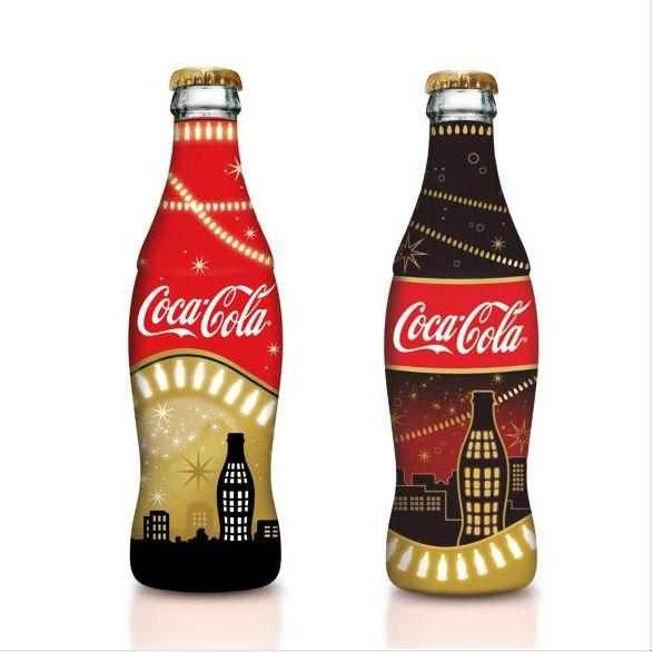 the coca cola branding and packaging Designers love to use elements of iconic brands and create something new and   adds graphic touch to coca-cola polar bears in holiday packaging designs.