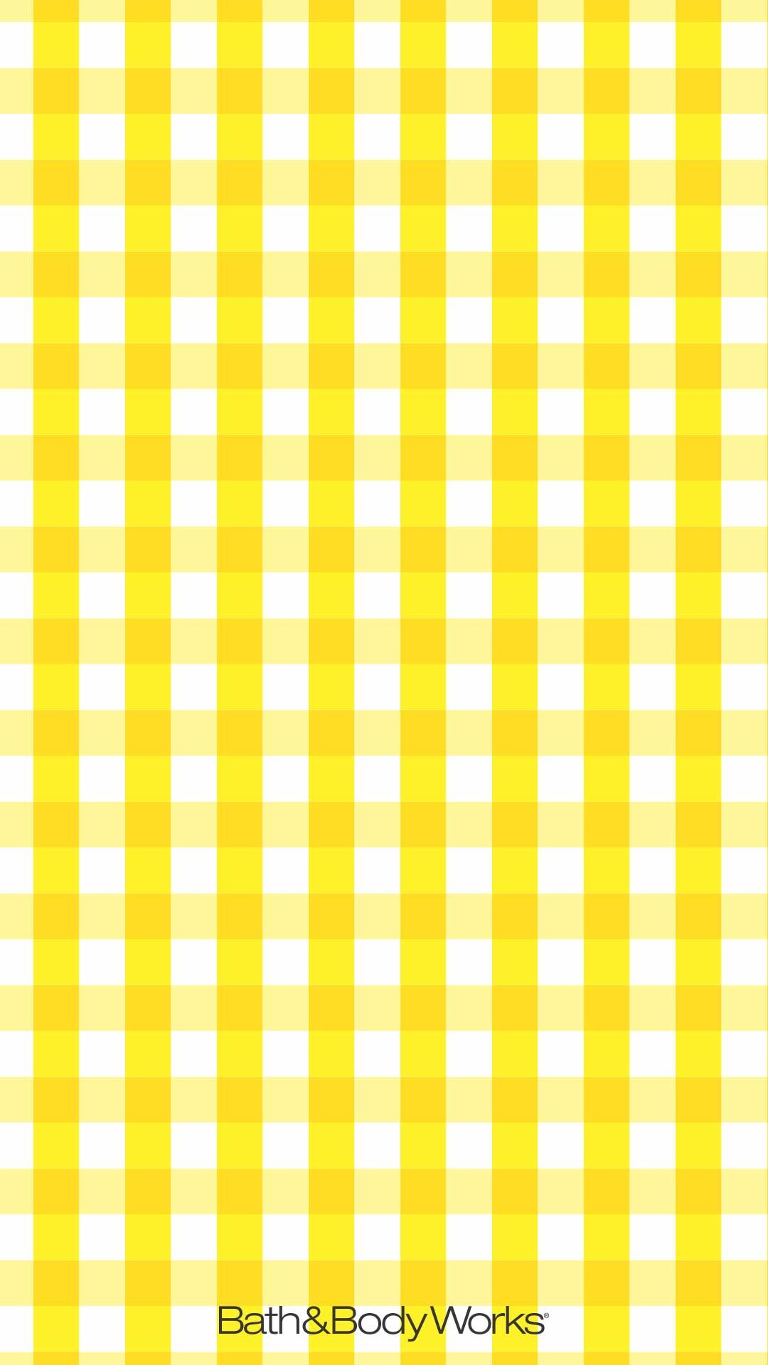 Yellow Gingham IPhone Wallpaper