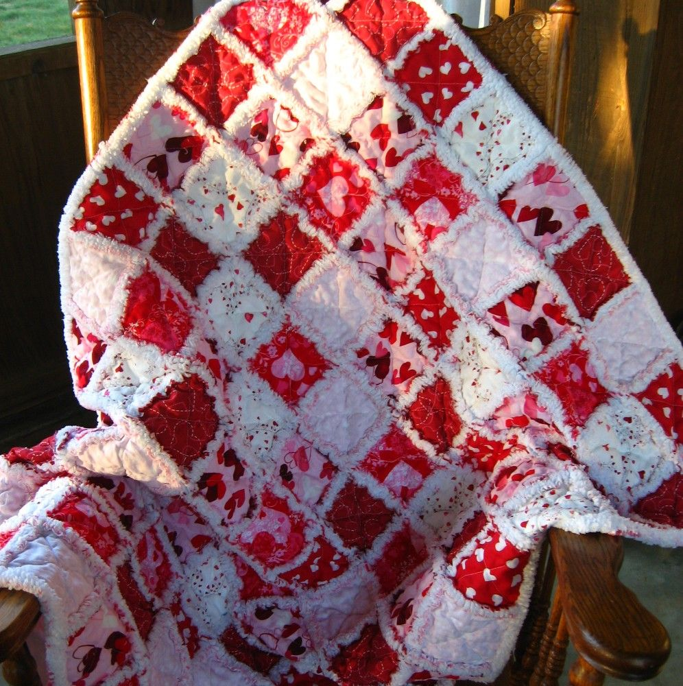 Gorgeous rag quilted baby blanket