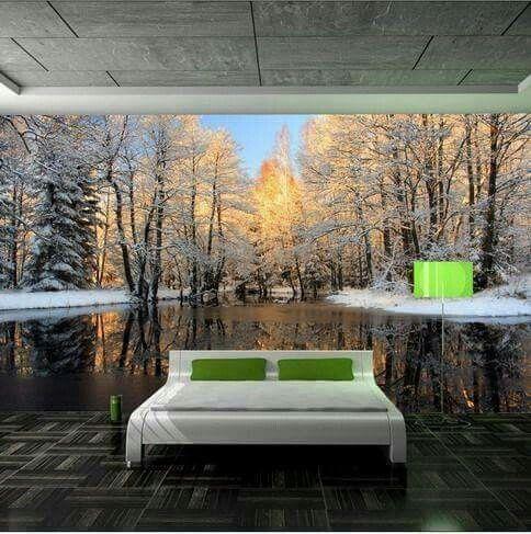 Decoraci n para tu dormitorio o sala con hermosos paisajes for Vinilos armarios dormitorio