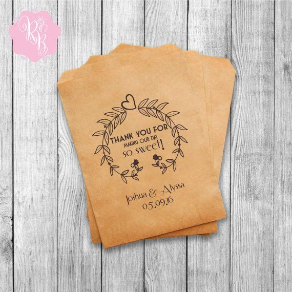 Set of 20 Wedding Favor Bags Wedding Favors Personalized