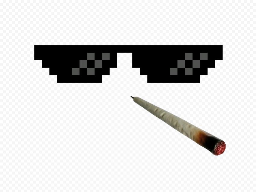 Dark Sunglasses Thug Life With Joint Dark Sunglasses Thug Life Dark